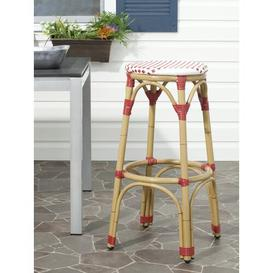 image-Rennert 76.2cm Bar Stool Sol 72 Outdoor Colour: Red/White