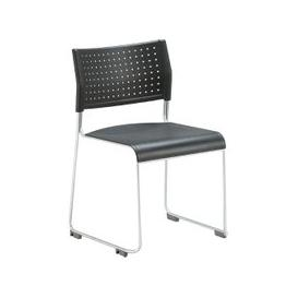 image-Chabas Poly Occasional Chair, Chrome/Black