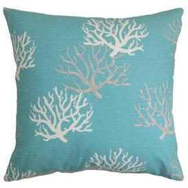 image-Hogansville Cotton Cushion Cover Beachcrest Home Colour: Blue, Size: 50 x 50cm