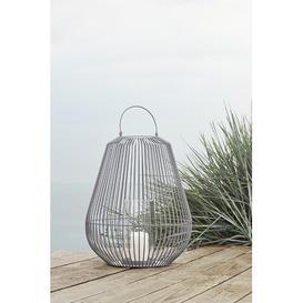 image-Nidea Metal Lantern Blomus Colour: Mourning Dove, Size: 62cm H x 49.5cm W x 49.5cm D
