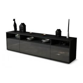 """image-Wroblewski TV Stand for TVs up to 42\"""" Brayden Studio Colour: High-gloss Grey / Matte Anthracite"""
