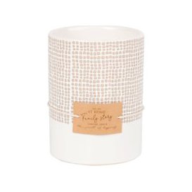 image-Scented Candle in Black, Grey and Ivory Ceramic Holder