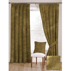 """image-Lime Green Crushed Velvet Curtains, 228cm(w) x 500cm(d) (90"""" x 197"""")"""