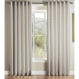 image-Higginbotham Eyelet Semi Sheer Curtains ClassicLiving Panel Size: 228 W x 228 D cm, Colour: Stone