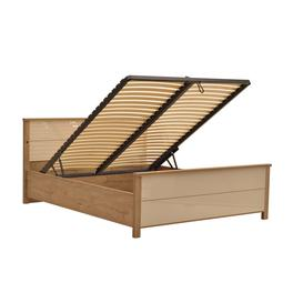 image-Wien Bed with Storage and LED - 180 x 200cm Cappuccino