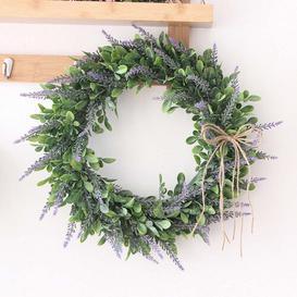 image-42cm Artificial Wreath Fleur De Lis Living