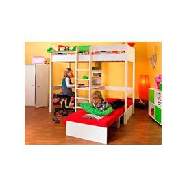 image-Stompa Nero Uno 5 Highsleeper With Desk,Pullout Chairbed
