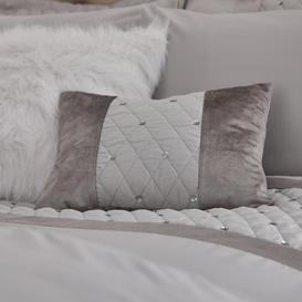 image-Catherine Lansfield Silver Sequin Cluster Cushion Silver