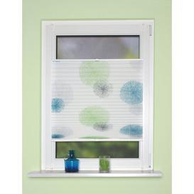 image-Aylsham Semi-Sheer Pleated Blind Ebern Designs Size: 70cm W x 130cm L, Finish: White/Blue