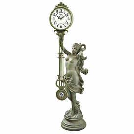 image-Goddess of Time Pendulum Tabletop Clock Design Toscano