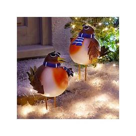image-Three Kings Set Of 2 Rockin' Robin Large Outdoor Christmas Ornaments