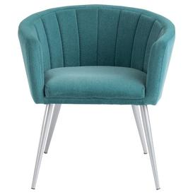 image-Lankin Teal Fabric Tub Chair