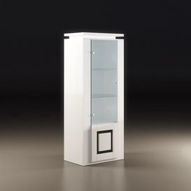 image-Garde Display Cabinet In White Gloss With Black And Light