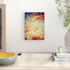 image-Globe World Map Photographic Print East Urban Home Size: 42cm H x 29.7cm W