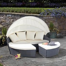 image-Failand Garden Daybed with Cushions Sol 72 Outdoor Colour (Frame): Grey, Cover included: Yes