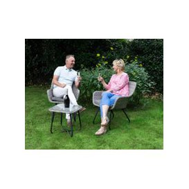 image-Vasto Rattan Garden Bistro Set in Grey