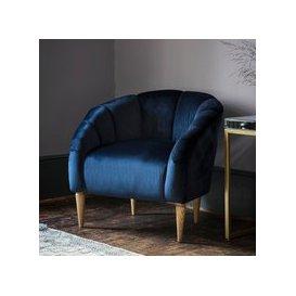 image-Gallery Tulip Chair in Velvet / Green