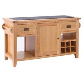 image-Vancouver Premium Oak Kitchen Island - Besp Oak