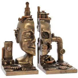 image-Steam Punk Skull Bookends Williston Forge