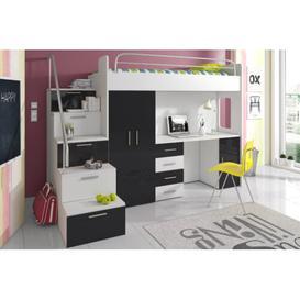 image-Asturia High Sleeper Bedroom Set Selsey Living Colour: Black