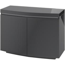 image-Florence Grey High Gloss 2 Door Sideboard with LED Light