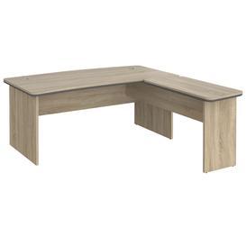 image-Caribou Executive L-Shaped Desk, Light Oak