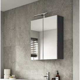 image-Gintautas 60cm x 71.5cm Surface Mount Mirror Cabinet Belfry Bathroom Finish: Black