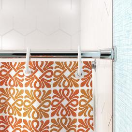 image-Sullins 122cm Adjustable Straight Tension Shower Curtain Rail Wayfair Basics Finish: Chrome