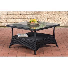 image-Ramelot Rattan Bistro Table Sol 72 Outdoor Table frame colour: Black, Size: 60cm H x 120cm W x 80cm D