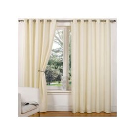 """image-Canvas Eyelet Curtains (45\"""" Width x 72\"""" Drop) - Natural"""