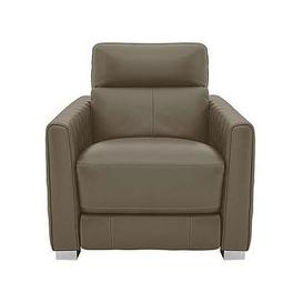 image-Vesper Leather Power Armchair with Power Headrest - Beige- World of Leather