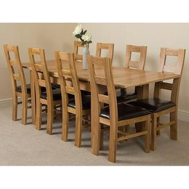 image-Kenia Dining Set with 8 Chairs Rosalind Wheeler