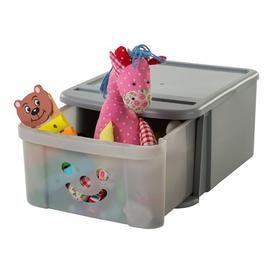 image-Smiley Toy Box IRIS Finish: Grey