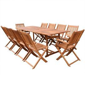 image-Baumann 10 Seater Dining Set Sol 72 Outdoor