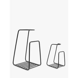 image-Ivyline Contemporary Log Holder, Black