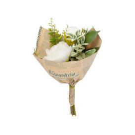 image-Artificial Flower Bouquet in Kraft Paper