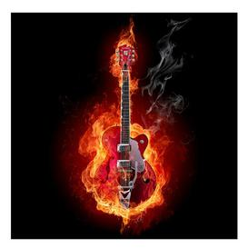image-Lamberton Guitar in Flames 2.4m x 240cm Children's Wallpaper Brayden Studio