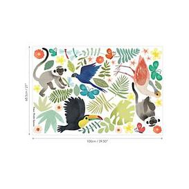 image-Villa Nova Jungle Jumble Wall Stickers, Multi, W591/01