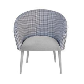 image-Plum Tub Chair Happy Barok Upholstery Colour: Grey