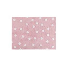 image-Lorena Canals Polka Dots Washable Rug - Grey with White Dots