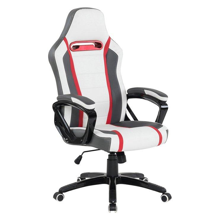 image-Vida Living Landon White Grey Red Gaming Office Chair