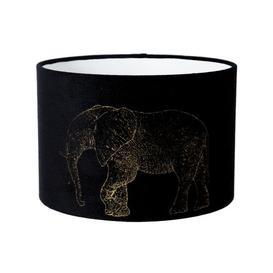 image-40cm Velvet Drum Lamp shade Bloomsbury Market Size: 25cm H x 40cm W x 40cm D