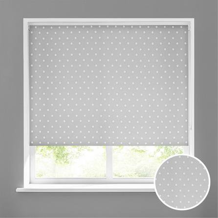 image-Dotty Grey Stain Resistant Daylight Roller Blind Grey