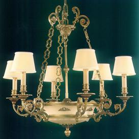 image-Debord 8-Light Shaded Chandelier Astoria Grand