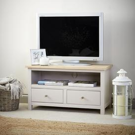 image-Corndell Painted Furniture Woodstock Stone White Small TV Unit