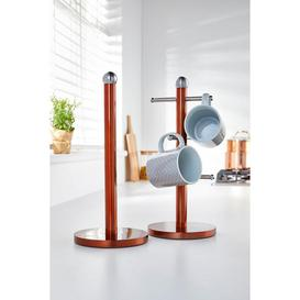 image-Copper Coloured Towel Holder with FREE Mug Tree