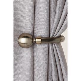 image-Pair Of Plain Ball Curtain Holdbacks