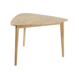 image-Triangular Solid Acacia 3-Seater Garden Table L110 Massilia