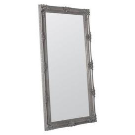 image-Abbey Silver 165x80cm Leaner Mirror Silver