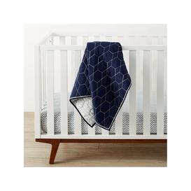 image-Pottery Barn Kids Organic Honeycomb Quilted Baby Blanket